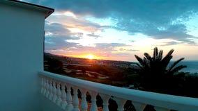 Sonnenuntergang in Tenerife stock video footage