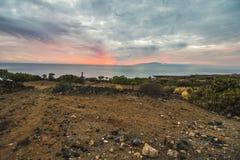 Sonnenuntergang, Teneriffa Stockbild