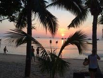 Sonnenuntergang in Thailand Lizenzfreie Stockfotos