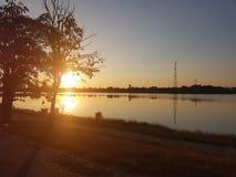 Sonnenuntergang Thung Fon Stockfotos