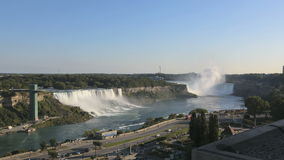 Sonnenuntergang Timelapse Niagara Falls stock video