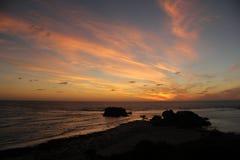 Sonnenuntergang-Tischler Rocks Stockfotos