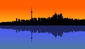Sonnenuntergang Toronto lizenzfreie abbildung