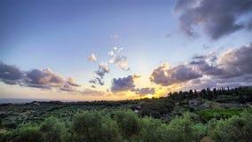 Sonnenuntergang in Toskana stock video footage