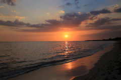 Sonnenuntergang in Trinidad Lizenzfreies Stockbild