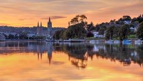 Sonnenuntergang Truro Cornwall England lizenzfreie stockbilder