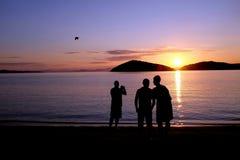 Sonnenuntergang, Tsougrias-Insel, Skiathos, Griechenland Stockfotos
