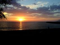 Sonnenuntergang u. x28; argeles sur mer& x29; stockbilder