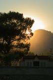 Sonnenuntergang und Baum Lizenzfreie Stockfotografie