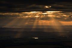 Sonnenuntergang und cloudscape Stockbild