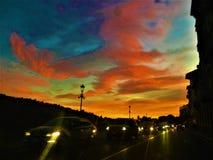 Sonnenuntergang und Farben in Turin Lizenzfreies Stockfoto