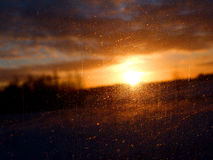 Sonnenuntergang und Glas Lizenzfreie Stockbilder