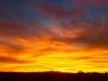Sonnenuntergang und helle Farben Lizenzfreie Stockbilder