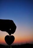 Sonnenuntergang und Liebe stockfoto