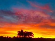 Sonnenuntergang- und Märchenfarben Lizenzfreie Stockfotos