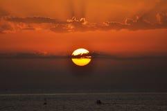 Sonnenuntergang und Meer Stockfoto