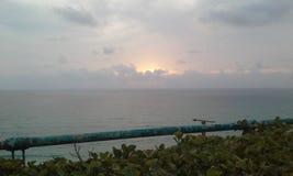Sonnenuntergang und Meer Stockfotografie