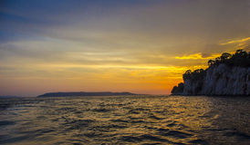 Sonnenuntergang und Meer Stockfotos
