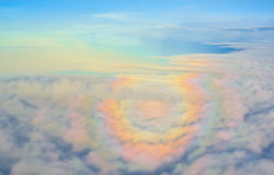 Sonnenuntergang und Regenbogen Lizenzfreie Stockbilder