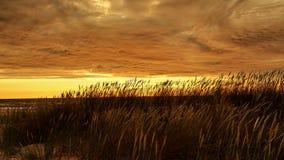 Sonnenuntergang und rote Wolken Stockfotos
