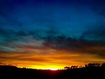 Sonnenuntergang und sentimentale Farben Stockfoto