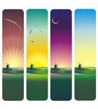 Sonnenuntergang und Sonnenaufgang Stockbilder