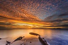 Sonnenuntergang und Sonnenaufgang Stockfoto