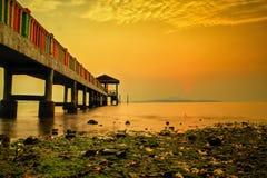 Sonnenuntergang- und Sonnenaufgangansicht Lizenzfreie Stockfotos