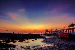 Sonnenuntergang- und Sonnenaufgangansicht stockbilder