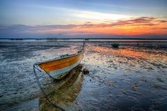 Sonnenuntergang- und Sonnenaufgangansicht lizenzfreie stockfotografie