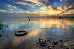 Sonnenuntergang- und Sonnenaufgangansicht lizenzfreie stockbilder