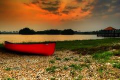 Sonnenuntergang- und Sonnenaufgangansicht Lizenzfreies Stockfoto