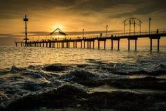 Sonnenuntergang und Strand Lizenzfreie Stockfotografie