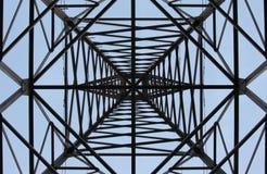 Sonnenuntergang und Stromleitung Lizenzfreie Stockfotografie