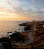 Sonnenuntergang in Ustica-Insel, Italien Lizenzfreie Stockfotos