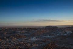 Sonnenuntergang in Valle-De-La Luna Lizenzfreie Stockbilder