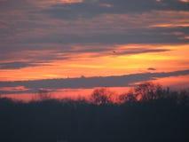 Sonnenuntergang Varna bulgarien lizenzfreie stockfotos
