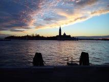 Sonnenuntergang in Venedig Stockfoto