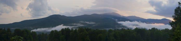 Sonnenuntergang Vermonts Stowe Stockfotos