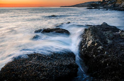 Sonnenuntergang an Victoria-Strand Lizenzfreie Stockbilder