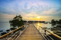 Sonnenuntergang view-1 von Batam-Insel riau Indonesien Asien lizenzfreie stockfotos