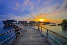 Sonnenuntergang view-2 von Batam-Insel riau Indonesien Asien stockfoto