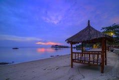Sonnenuntergang view-3 von Batam-Insel riau Indonesien Asien stockfotografie