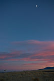 Sonnenuntergang an VLA New-Mexiko Lizenzfreies Stockfoto