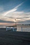 Sonnenuntergang vom Pier Stockbild