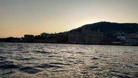 Sonnenuntergang vom Schloss lizenzfreies stockfoto