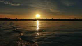 Sonnenuntergang von Chiloé stockfotos