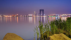 Sonnenuntergang von China-Stadt Stockbild