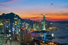 Sonnenuntergang von cityspace Lizenzfreie Stockfotografie