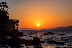 Sonnenuntergang von Dadaepo-Strand Stockfoto